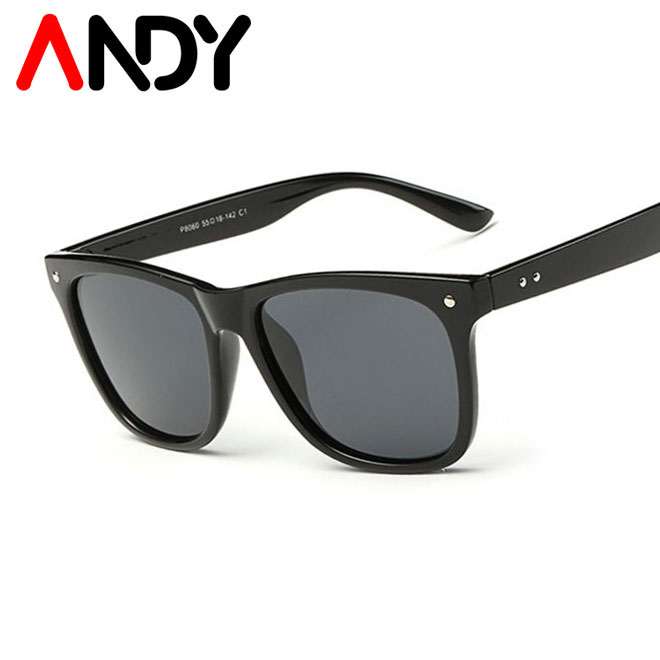 ANDY Men's Polarized Sunglasses Brand Design Men Driving Mirror Coating Points Unisex Style Eyewear Male Sun Glasses UV400(China (Mainland))