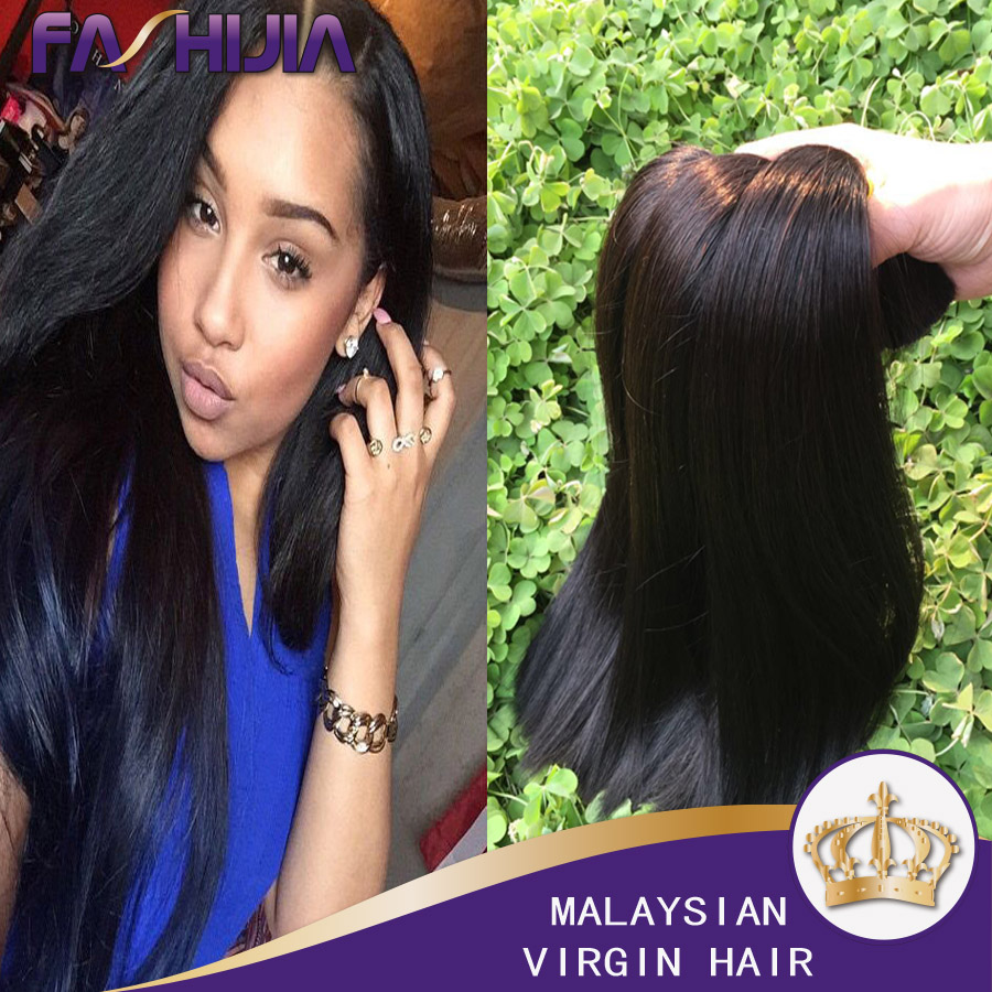 Vip Beauty Hair Malaysian Remy Straight Human Hair Flip In Hair Extension Halo Hair Natural Color 3Pc Human Hair Extensions Sale<br><br>Aliexpress