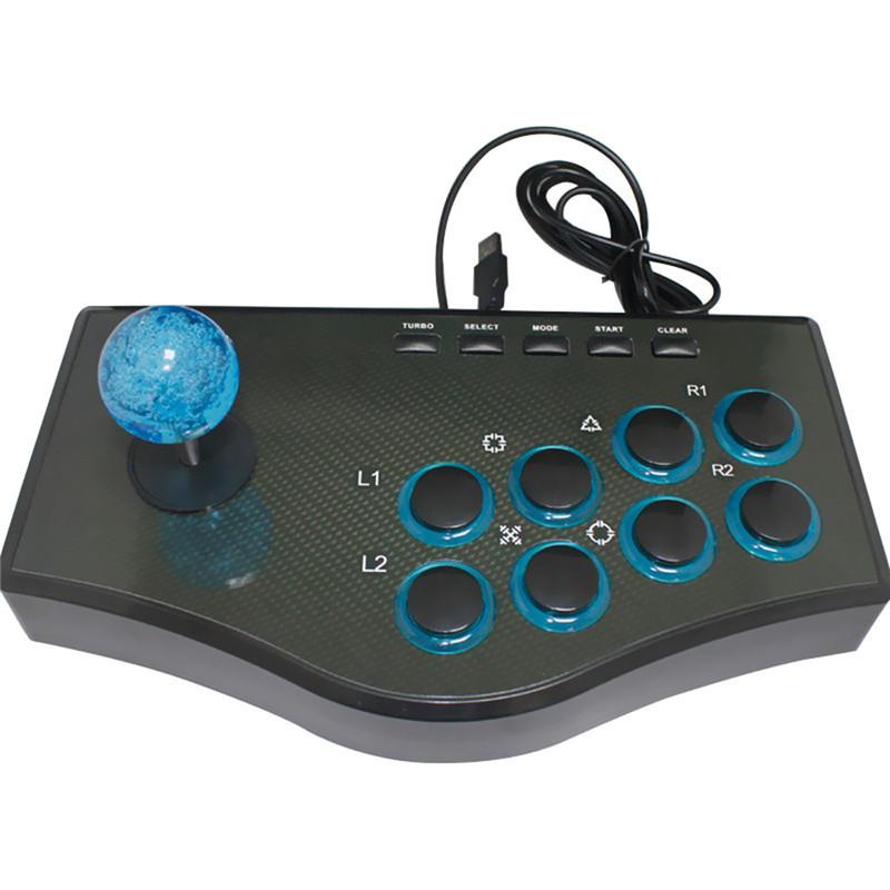 image for USB Fighting Stick Arcade Joystick Gamepad Rocker Controller For PS3/P
