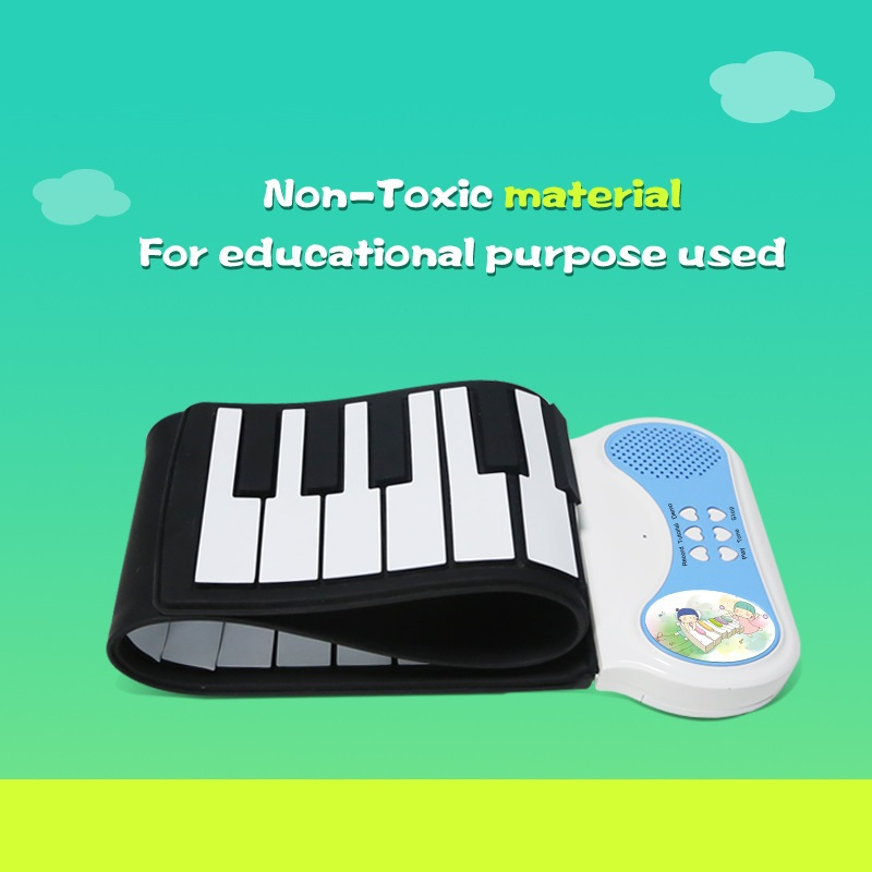 Portable Soft Musical Instrument Flexible Keyboards 37 Keys Electronic Roll Up MINI Piano Electron MIDI Synthesizer Kids Toys(China (Mainland))
