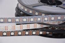 1m 2m 3m 4m 5M DC5V APA102 led pixel srip 60 APA102 5050 RGB LEDs/M  60pixels;WHITE Black PCB, DATA and CLOCK seperately(China (Mainland))