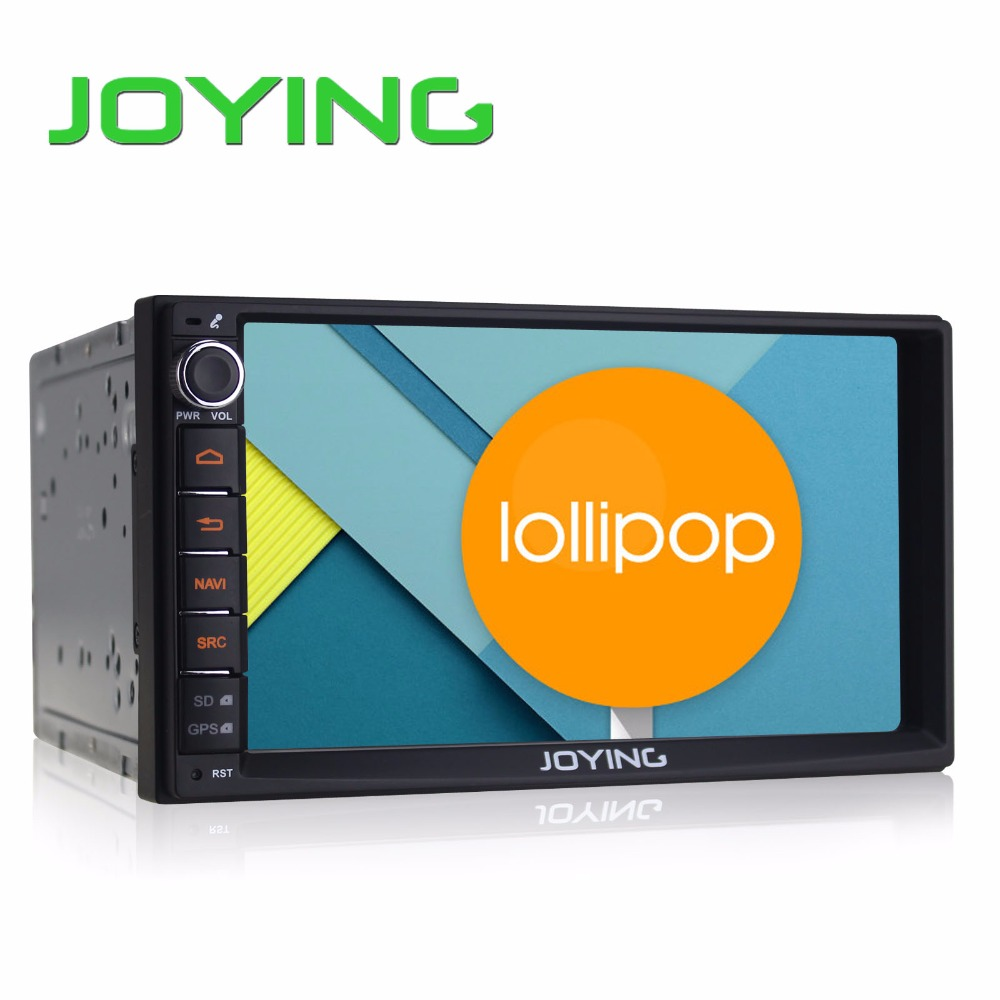 "Joying 7"" Double 2 Din Android 5.1 Lollipop Universal Car Radio Quad Core 1024*600 HD Car GPS Navigation Best Head Unit Car PC(China (Mainland))"