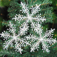 3 Pcs/lot Hot Sale Merry Xmas Tree House Ornament Christmas Decoration Snowflake Sheet White Plastic 23cm