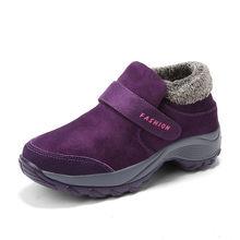 PINSEN 2019 Winter Frauen Schnee Stiefel Mode Frauen Warme Push-Plattform Stiefeletten Weibliche Hohe Wasserdicht Keil Stiefel Schuhe Frau(China)