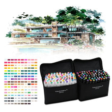 Buy 80 Colors Painting Art Mark Pen Alcohol Marker Pen Cartoon Graffiti Sketch Double Headed Art Copic Markers Designers for $33.99 in AliExpress store