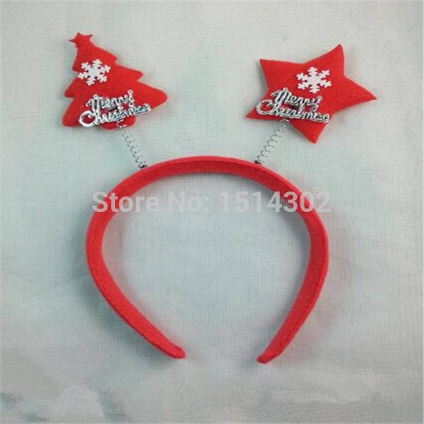 Christmas Decorations Christmas Hat Santa Christmas Deer Horn Hoop Cloth Art Crafts Wholesale Free Shipping(China (Mainland))
