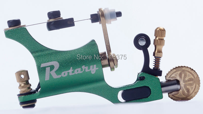DHL&EMS Freeshipping 5pc/Lot Rotary Tattoo Machine for Shader&Liner High Quality Green Allu Alloy Tattoo Motor Gun For Artists(China (Mainland))