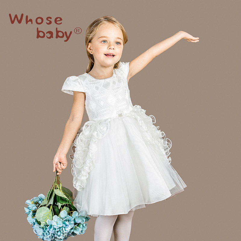 The new girl 's dress in Europe and America fashion pompry children' s wedding dress D3100(China (Mainland))