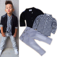 2016 Brand New Toddler Boys Clothing Set 3 Pcs Boys Party Clothes Kids Boutique Outfits Wedding Clothes Boys Formal Vest