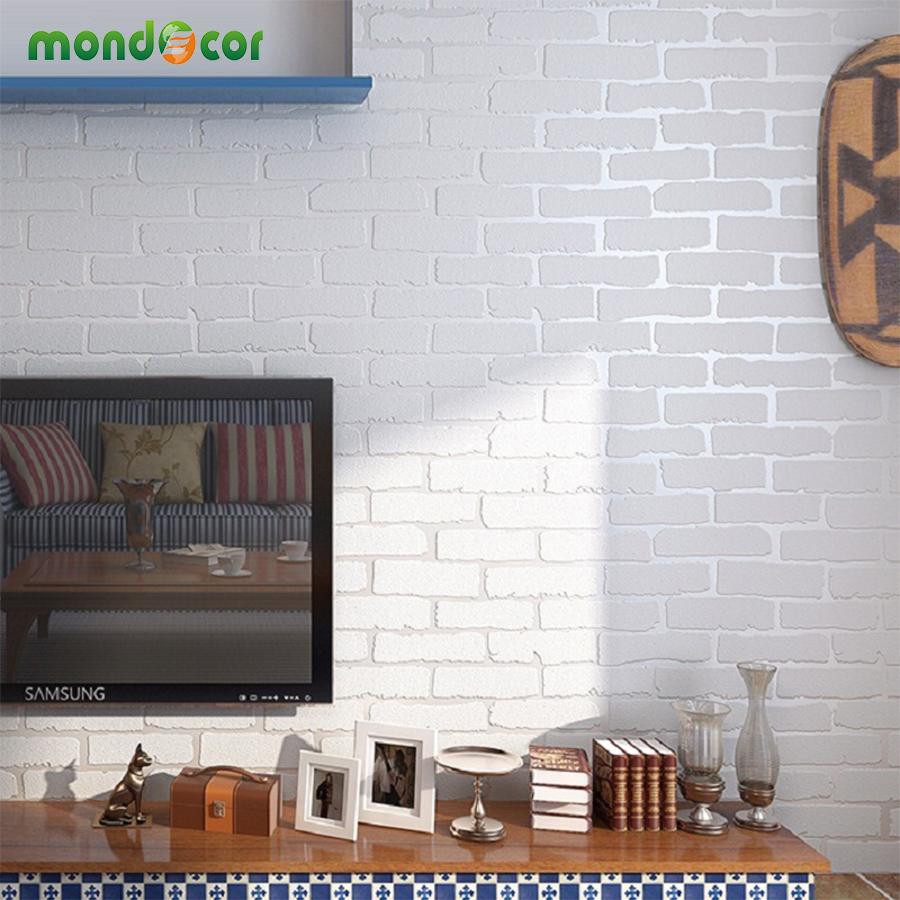 ottieni online a basso prezzo brick design carta -aliexpress.com ... - 3d Sfondo Del Pannello Di Legno Moderno Vinile Carta Da Parati Per Soggiorno
