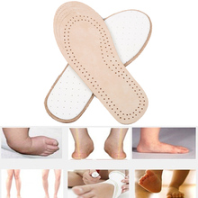 Orthopedic Insole for Children Antibacterial Active Carbon Orthotic Arch Support Instep Cowskin flat Foot Shoe Pad Massage Z4050(China (Mainland))