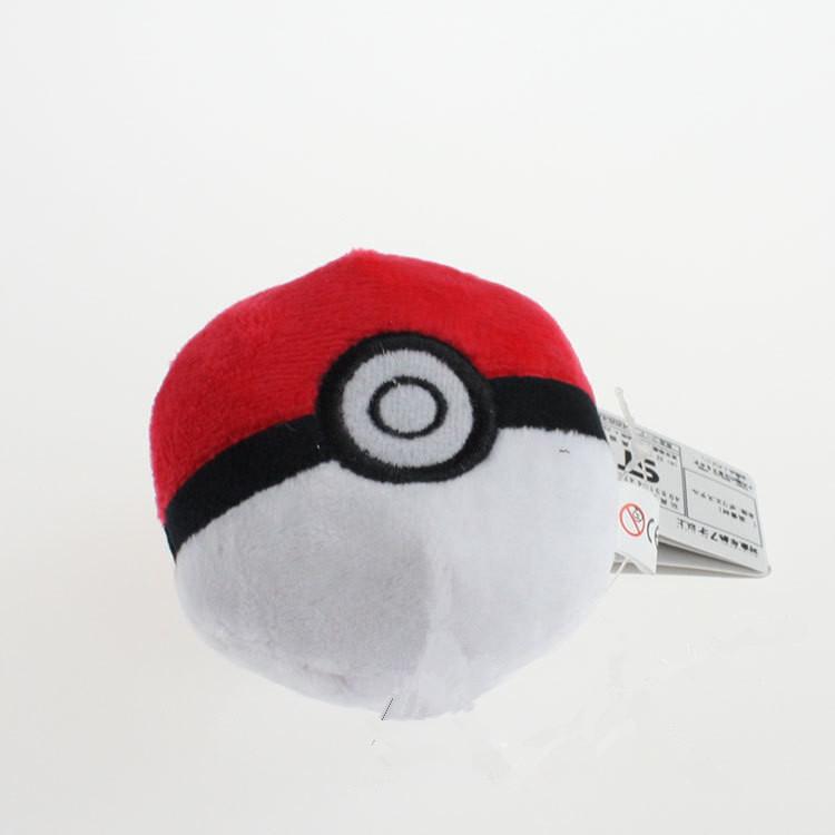 Cute Pikachu Poke Ball Pandent Plush Pokemon Doll Anime Cosplay 9cm Free Shipping(China (Mainland))