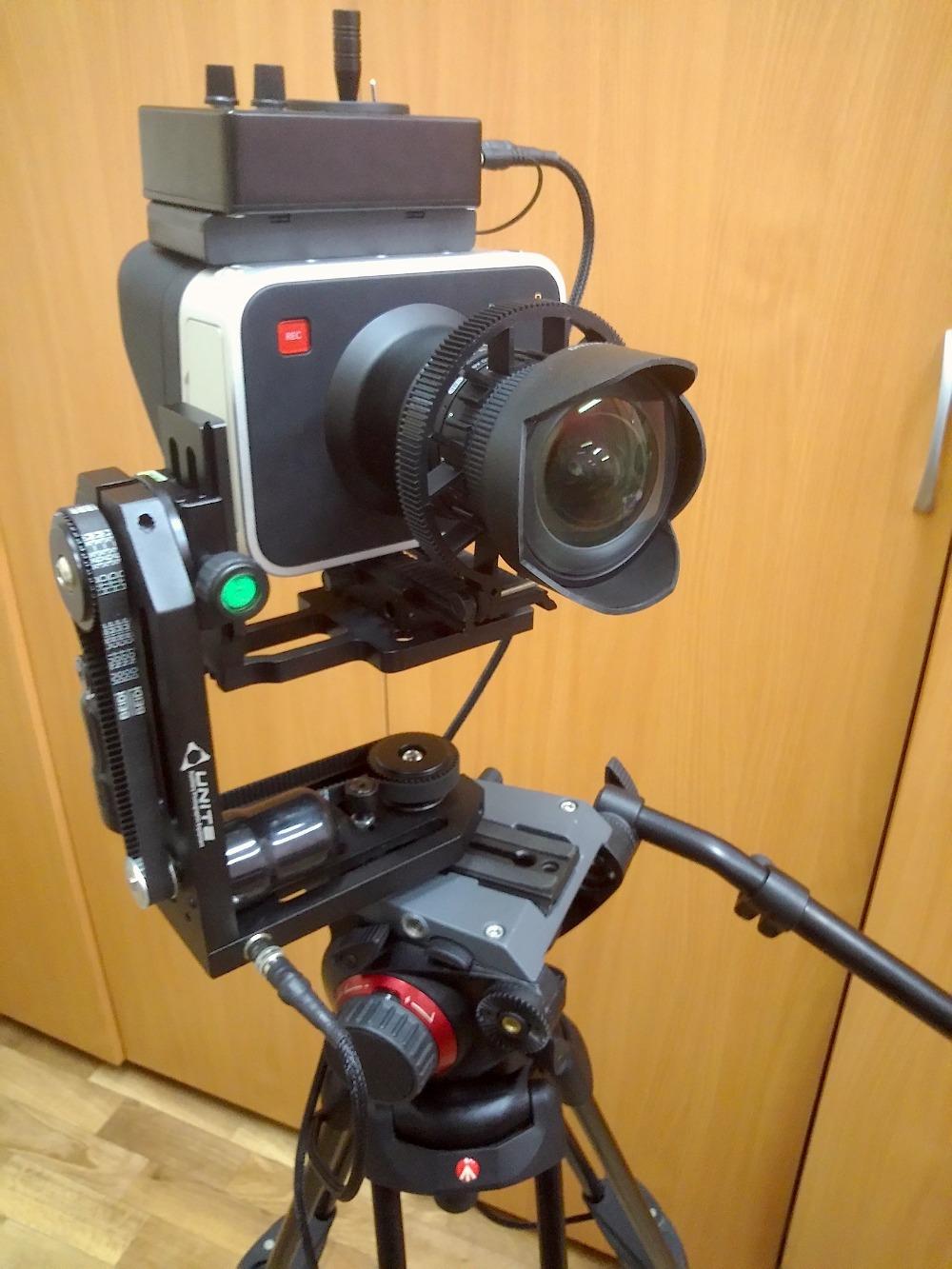Cineranger motorized pan tilt head for blackmagic cinema for Pan and tilt head motorized