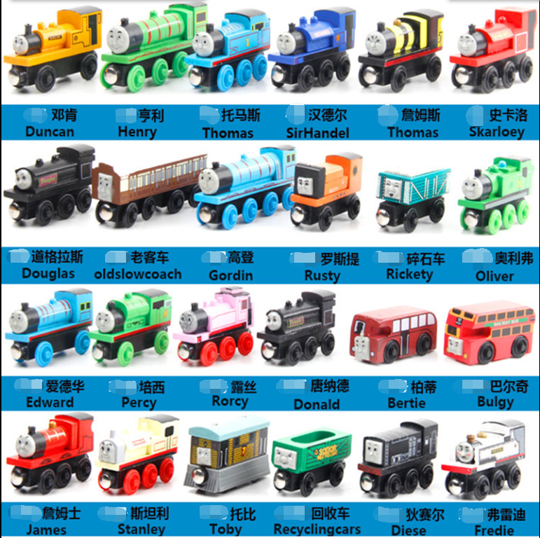 Wooden Magnetic Thomas Circus Train Donald Lady Gordon Friends Lorry Track Railway Vehicles Diecast Toys for children(China (Mainland))