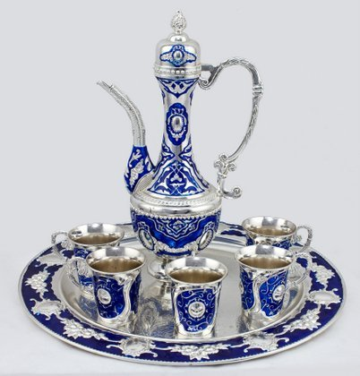 Wholesale and retail home decoration metal wine set and tea pot 5140