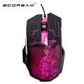2016 New 2400 DPI 6 Buttons colorful Backlight LED Optical USB Wired Mouse Gamer Mice computer