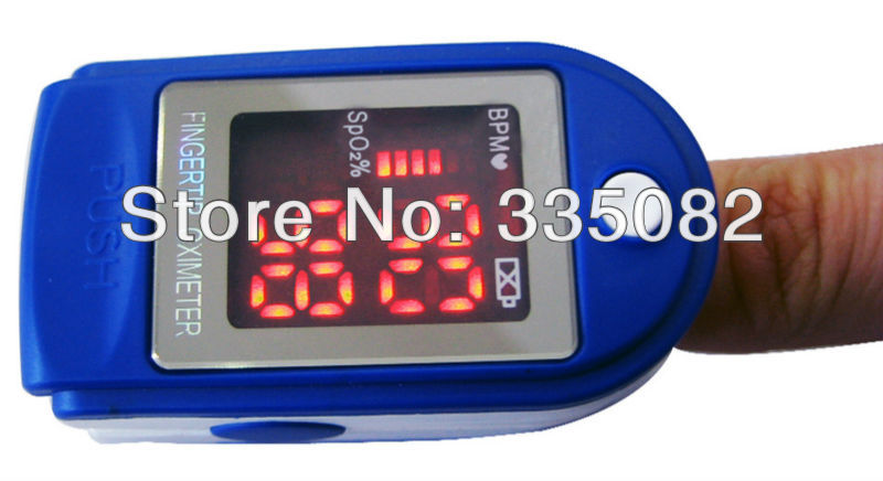 healthcare equipment LED Digital finger fingertip pulse Oximeter/ Oxymeter Spo2 Test Monitor CE and FDA approval Free Shipping(China (Mainland))