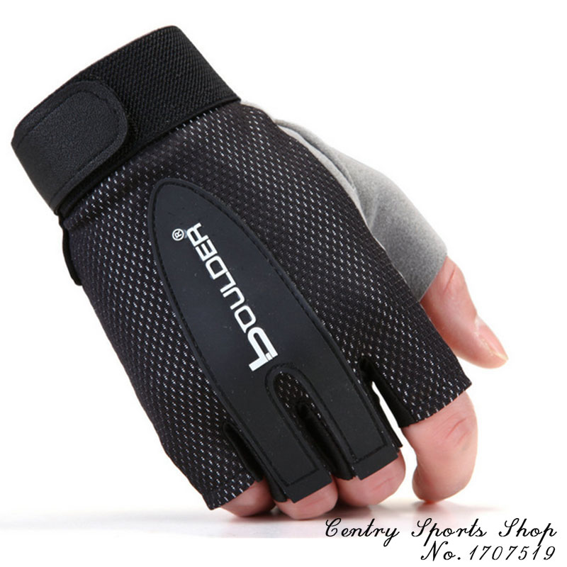 Fitness Weight lifting gloves Sport Gym training barbell dumbbell exercise women men Cycling bike fishing gloves Free Shipping(China (Mainland))