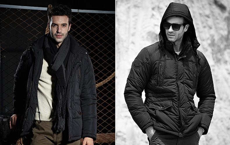 Скидки на Европа И Соединенные Штаты Оригинальный Дизайн С Капюшоном Хлопка-Проложенный Одежды Мужчин Утолщение Торговли Черный Хлопок-Проложенный Одежды куртка