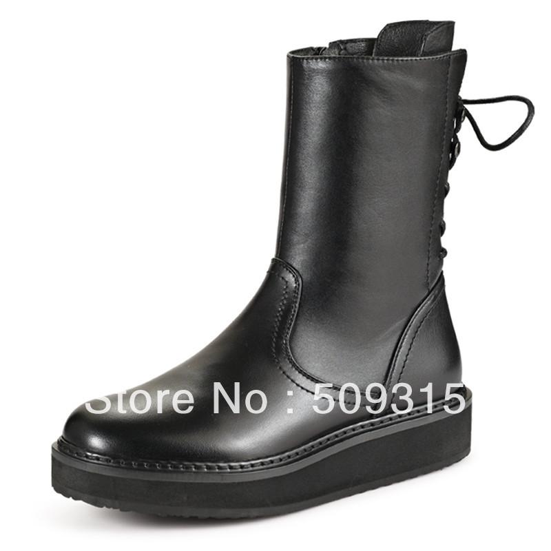 Elegant New 2014 Autumn Platform High Heels Wedges Shoes For Women Fashion Bow