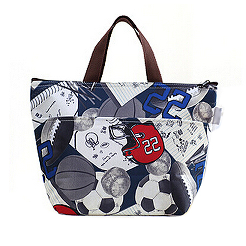 FJS! Lunch Box Bag Tote Insulated Cooler Carry Bag,soccer(China (Mainland))