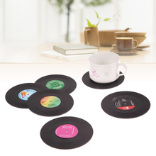 D1U# New Arrival 6pcs/lot Useful Food Grade Plastic Vinyl Coaster Cup Drinks Holder Mat Tableware Placemat Free Shipping(China (Mainland))