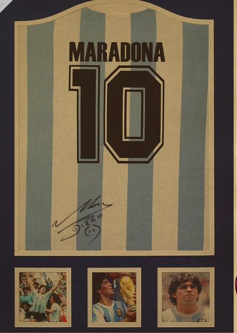 Maradona No.10 Shirt Argentina Soccer Football Star Sports Vintage Decorative Kraft Poster Wall Sticker Poster Home Decor Gift(China (Mainland))