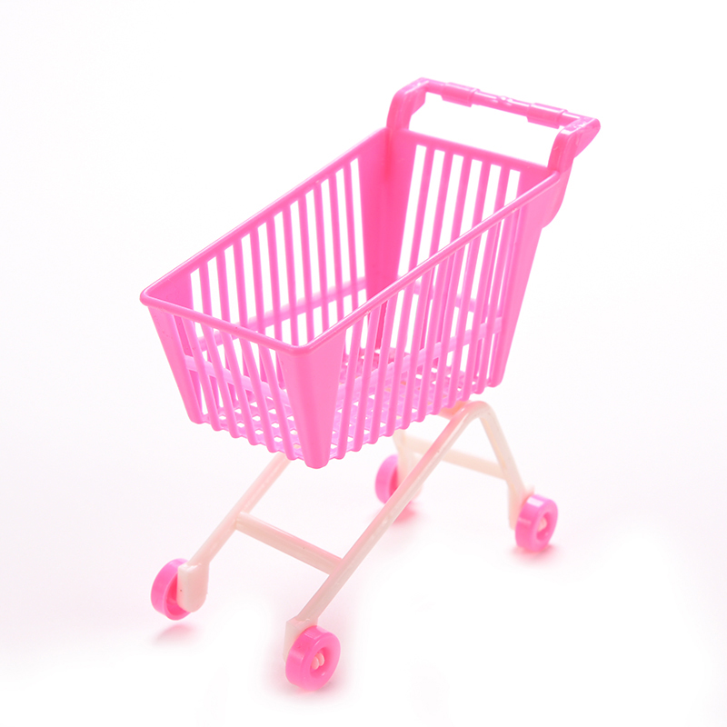 1 X Shopping Cart for Barbie Classic Toys Trolleys for Kids Girls Birthday Gift(China (Mainland))