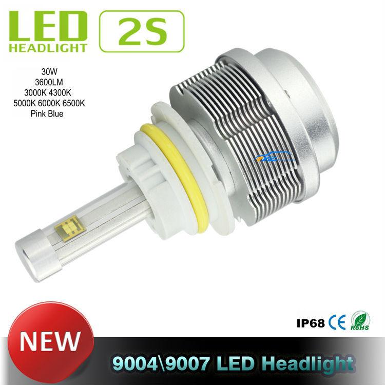 LED Car Headlights All in one Car LED Headlight CREE ETI Flip Chips 9004 9007 LED Headlight Hi Lo 30W 3600LM 4300K 5000K 6000K