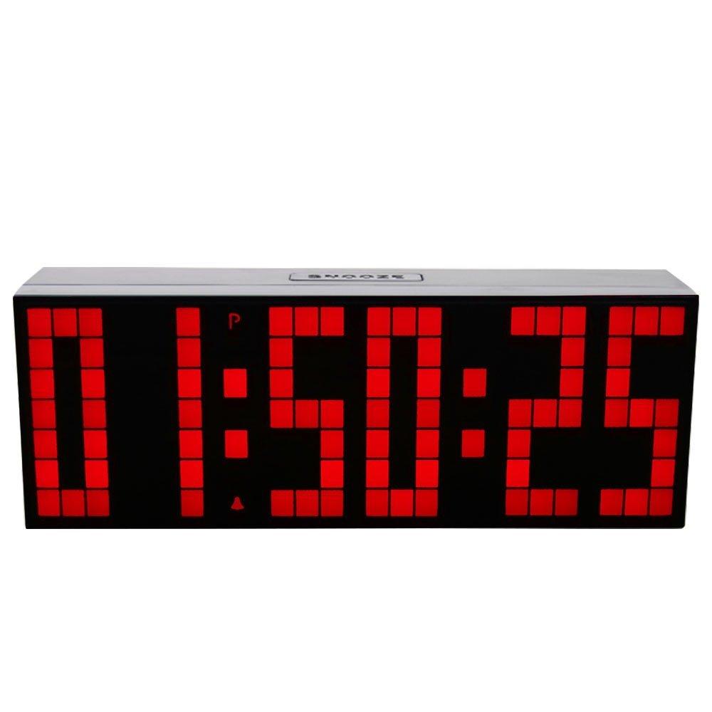 Big Font LED Digital Alarm Temperature Calendar Wall Clocks Countdown Timer Sport Timer Large Led Display Alarm Clock(China (Mainland))