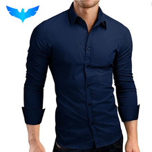 Buy QINGYU Mens Shirt Brand 2017 Male Long Sleeve Shirts Casual Hit Color Slim Fit Solid Color Men Dress Shirts XXXL MA92 for $9.99 in AliExpress store