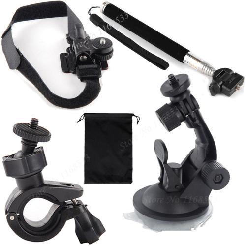 buy ports activiy camera car bike selfie stick monopod helmet mount kit from. Black Bedroom Furniture Sets. Home Design Ideas
