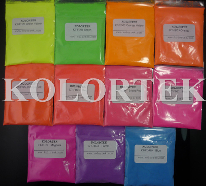 Fluorescent Powders, Fluorescent Pigments, Red, Green, Orange, Pink, Yellow, etc.(China (Mainland))