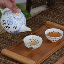NEW SHOP Chinese Kung Fu Tea Set Ultra Thin Exquisite Tea Sets Bone China TeaPot Tea