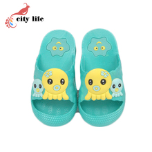 Cute Candy Color Home Slippers Shoes Kids Cartoon Animal Summer Shoes EVA Clogs Sandals Slippers Discount(China (Mainland))