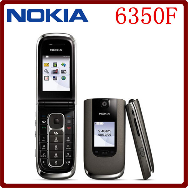 6350F Original Nokia 6350 Flip MP3 GSM 3G Unlocked GPRS Cell Phone One year warranty Free Shipping(China (Mainland))