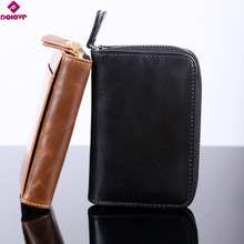 Buy DOLOVE New Arrival Genuine Leather ID Card Holder Card Wallet Purse Credit Card Business Card Holder Protector Organizer D-7502 for $6.66 in AliExpress store