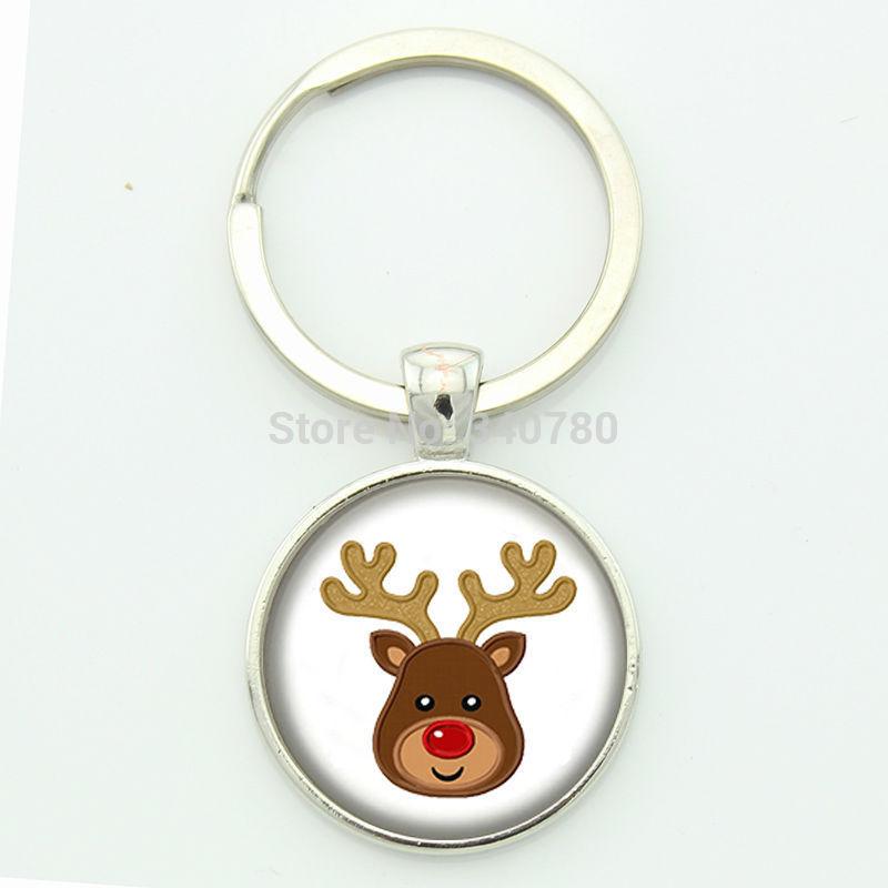1 Pcs frree shipping Kawaii Cartoon Animal keychain Glass gem art photo Key holder Creative Keyring christmas jewelry KC28(China (Mainland))