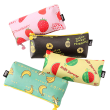 Buy New Arrival Fresh Fruit Pu Waterproof Pencil Case Stationery Storage Organizer Bag School Office Supply Escolar Papelaria for $1.30 in AliExpress store