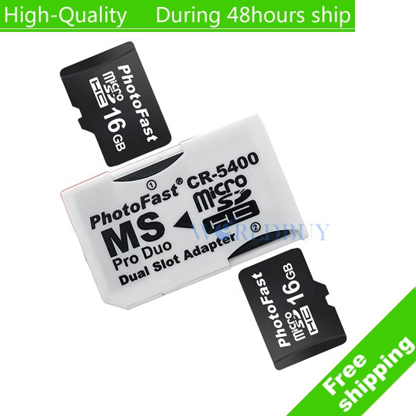 High Quality Dual Micro SD TF to Memory Stick MS Pro Duo Adapter CR-5400 CR5400 Free Shipping DHL UPS EMS<br><br>Aliexpress