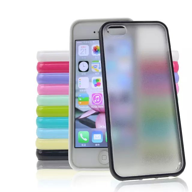 Mobile Phone Cover Case For iPhone 5 5s 6 6Plus Clear Case Phone Shell With Dust Plug Protective Cover 2 in 1(China (Mainland))