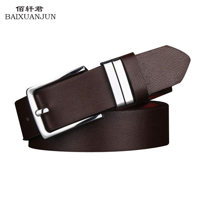 [BAIXUANJUN]2016 new men's men's business casual leather belt with high quality pin buckle belt fashion wild belt(China (Mainland))