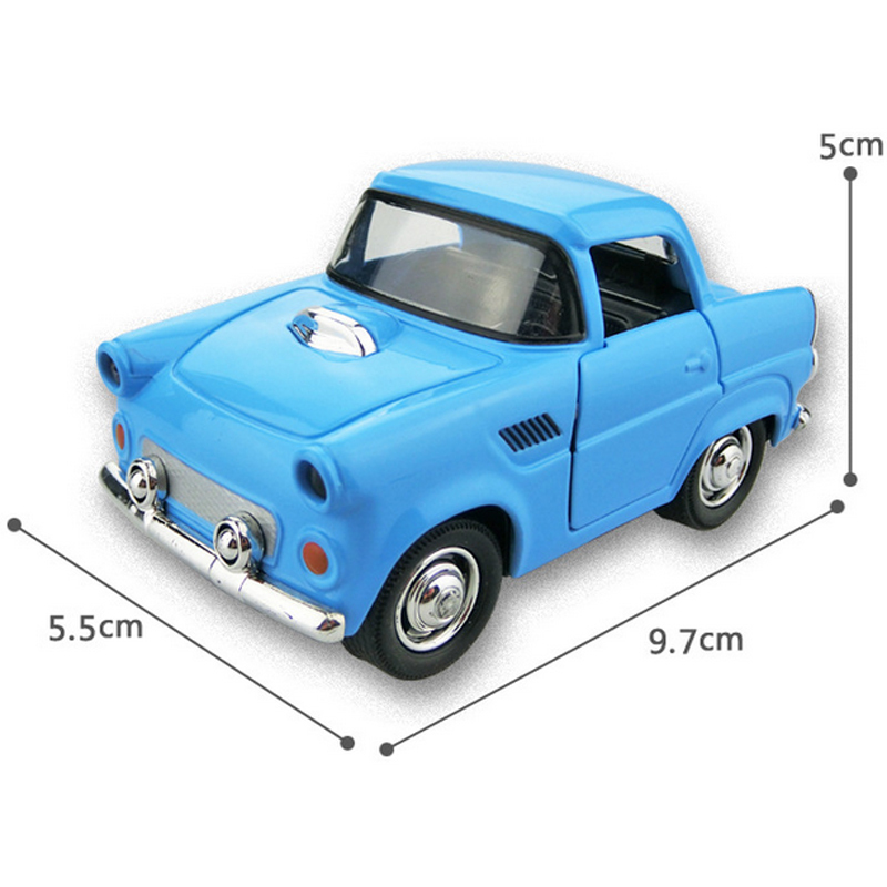 6Pcs Alloy model car 1:38 Q version pull back alloy car model toy car Children toy Hot(China (Mainland))