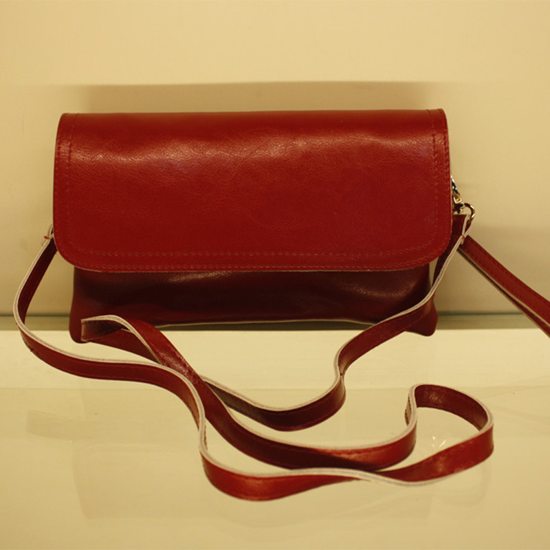 25 cm Genuine Leather Satchel Portfolio Women Messenger Bags Vintage Pastel Satchel Natural Leather Bags Cross Body(China (Mainland))