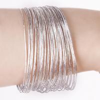 New 2014 Brand New Bulk 50Pcs Fashion Silver Ultra Thin Hoop Bracelet Cuff Bangle Wristband Free Shipping