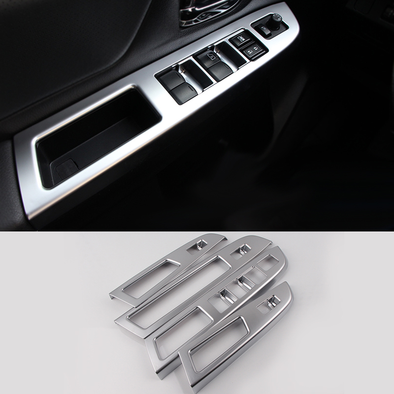 2016 car styling 4pcs lots abs interior door window lift switch panel decoration cover for. Black Bedroom Furniture Sets. Home Design Ideas