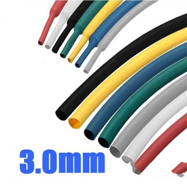 DryFork 1 8 Inch 1M 3.0MM 7Color 2:1 Polyolefin Heat Shrink Tube Sleeving Wrap(China (Mainland))