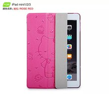 Cute lovely cartoon Ultra thin hello kitty cover case for apple 7.9 ipad mini 1 2 3 smart cover case for ipad mini retina(China (Mainland))