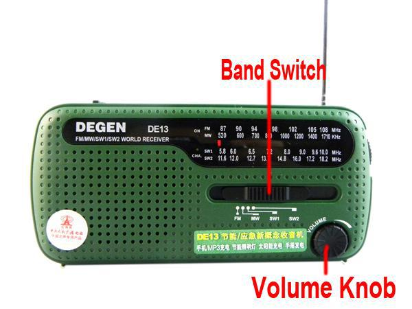 DEGEN portable mini fm radio DE13 FM MW SW Crank Dynamo Solar Emergency Radio World Receiver