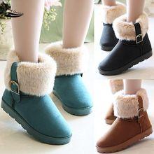 2015 nuevo botines calientes cortos damas de nieve zapatos para mujeres invierno espesar Artificial más tamaño 34(China (Mainland))